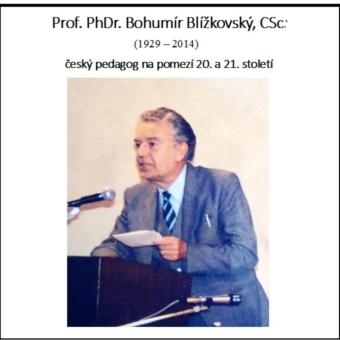 Bohumír Blížkovský - český pedagog na pomezí 20. a 21. století